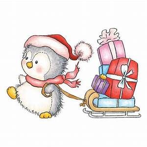 Penguins, Presents and Sled on Pinterest