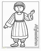 Coloring Pages Afghanistan Multicultural Traditional Clothing Cultures Cultural Around Education Sheets Worksheet Diversity Dress Worksheets Different Children Detailed Preschool Colouring sketch template
