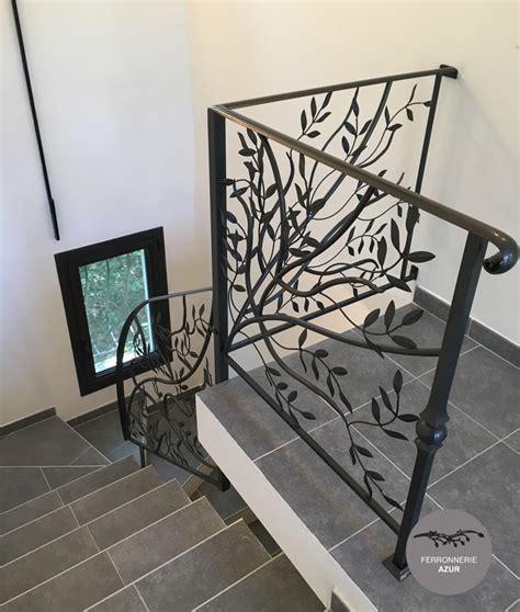 rambarde escalier en fer forge re d escalier sur mesure en fer forg 233 cote d azur