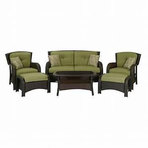 Shop Hanover Outdoor Furniture Strathmere 6-Piece Wicker