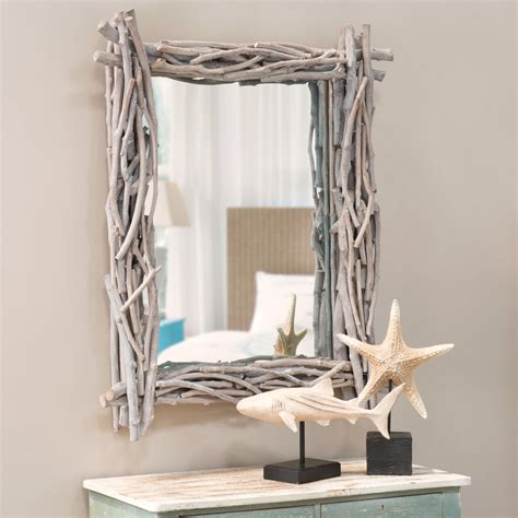 chambre h el avec miroir en bois flotté h 113 cm fjord maisons du monde
