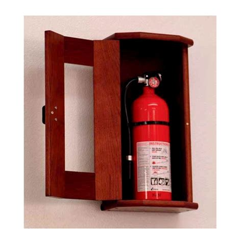 wooden mallet fire extinguisher cabinet  acrylic front