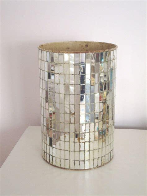 Bedroom Wastebasket by Vintage Mirrored Wastebasket Mirror Trash Can Mid