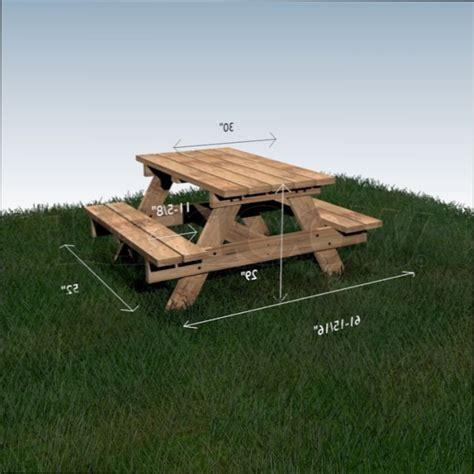 table bois plan pour fabriquer une table de picnic en bois