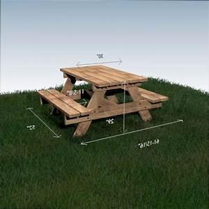 fabriquer une table de picnic en bois myqtocom With plan salon de jardin en bois