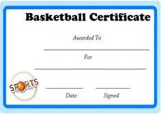Basketball Camp Certificate Basketball Mvp Certificate Template ...