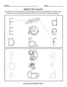 letter def sounds matching phonics worksheets