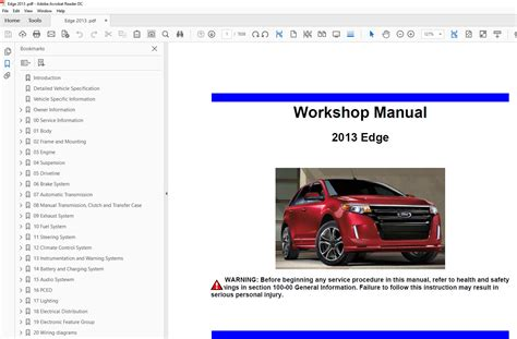 chilton car manuals free download 2013 ford edge navigation system ford edge 2011 2014 factory repair manual