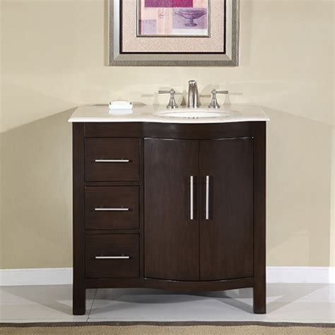 modern single sink bathroom vanity  marble
