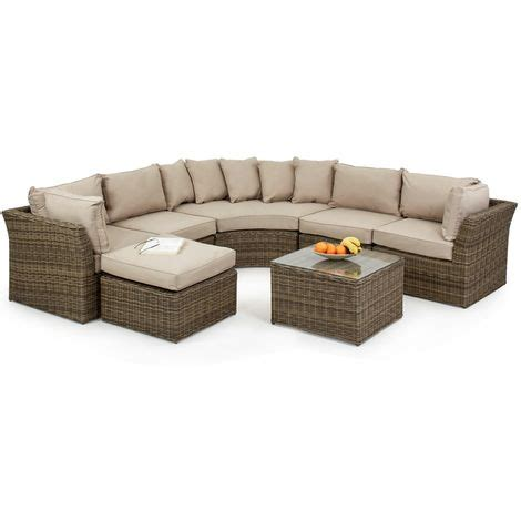 Rounded Corner Sofa by Maze Rattan Winchester Modular Rounded Corner Sofa Set