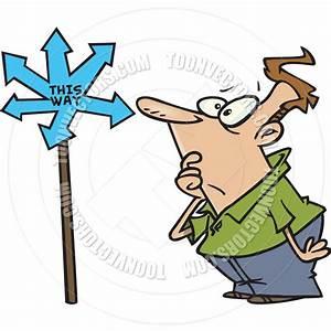 Cartoon Man Confused by Ron Leishman | Toon Vectors EPS #10305