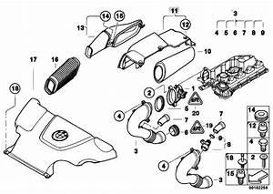 Original Parts For E46 320d M47n Touring    Fuel Preparation System   Mass Air Flow Sensor Intake
