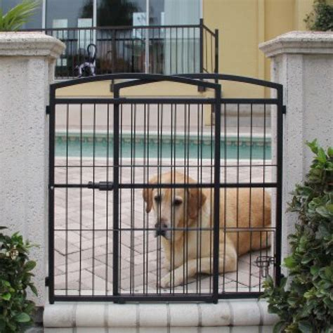 outdoor gates carlson pet gates carlson weatherproof outdoor expandable gate with pet door extra tall