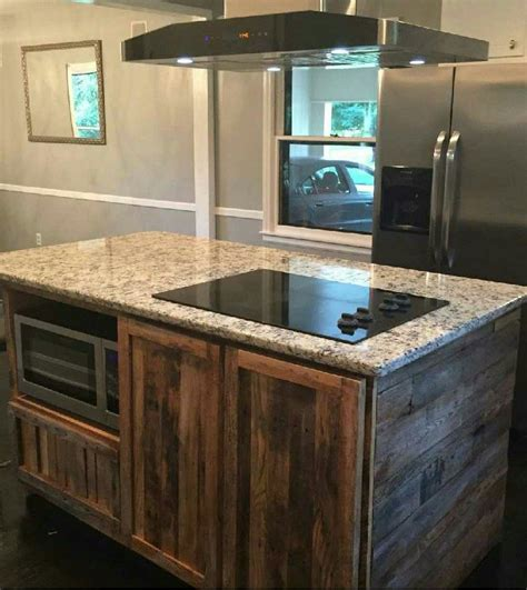 reclaimed kitchen islands made reclaimed barnwood kitchen island by wmww 1743