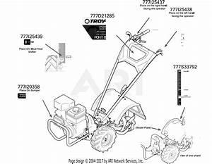 Troy Bilt 21ae492k766 Pony Es  2016  Parts Diagram For