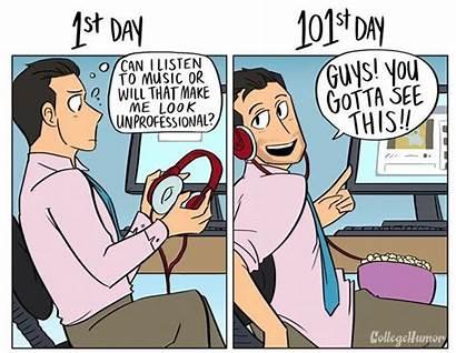 Vs Job 1st Changes Werkdag Cartoon Comics