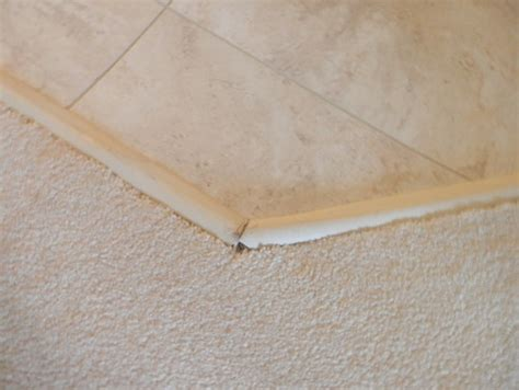 transition strips between carpet and vinyl tile