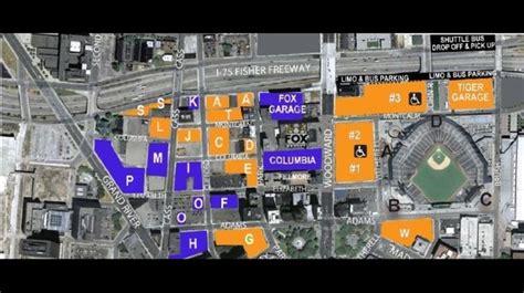 Parking maps for Detroit Tigers, Detroit Lions Monday games