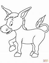 Donkey Coloring Pages Printable Drawing Dot sketch template