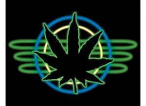 Neon Marijuana Smoke Smokin With A Neon Joint Stock