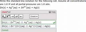Create Chempad Questions For Electrochemical Cell Notation