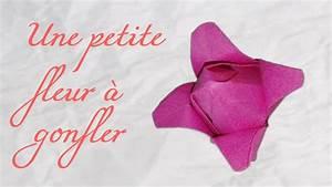 Origami Fleur Coeur D étoile : origami petite fleur gonfler en papier youtube ~ Melissatoandfro.com Idées de Décoration