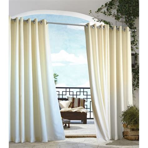 Outdoor Curtain Panels by Outdoor Decor Gazebo Solid Indoor Outdoor Grommet Top