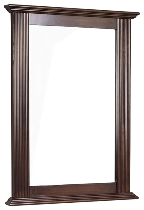 Walnut Bathroom Mirrors by Traditional Birch Wood Veneer Wood Mirror Walnut 24 Quot X32