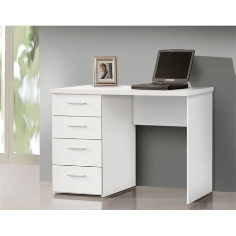 bureau simple blanc bureau blanc avec rangement demi ministre