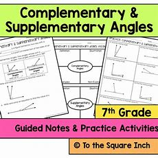 Complementary And Supplementary Angles Notes By Katembee  Teaching Resources Tes