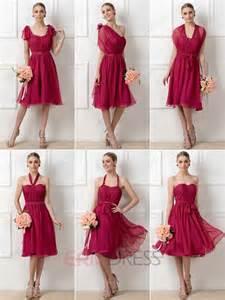 convertible bridesmaid dress ericdress stylish a line tea length convertible bridesmaid dresses bridesmaid dresses 2015
