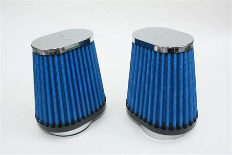 Simota Lightweight Powersports Cone Air Filters 54mm Offset Mount. Chrome Decorative Finish
