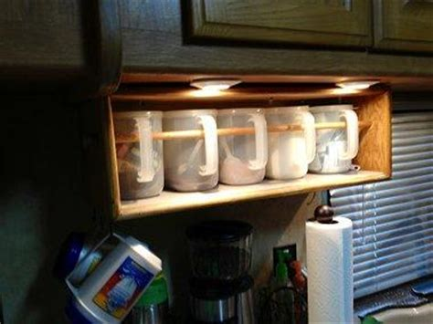 rv kitchen storage solutions custom build rv shelf organizers to keep your stuff secure 5036