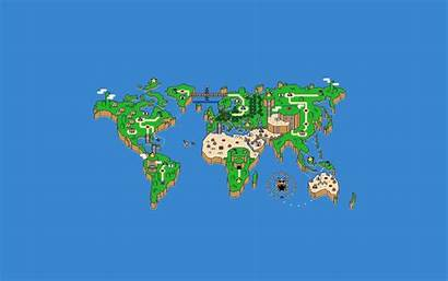 Map Desktop Wallpapers Creative Designs Mario Super