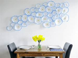 how to make floral wall art with coffee filters hgtv With objet decoration cuisine design