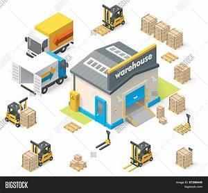 Vector Isometric Warehouse Vector & Photo | Bigstock