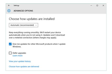 security install how to change windows update settings windows 10 8 7