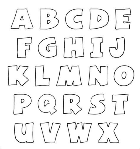Alphabet Outline 27 Enticing Bubble Letters Free Premium Templates