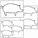 Pig Printable Shapes Printabletreats Pigs Silhouette Shape Patterns Templates Snout Applique Pot Belly sketch template