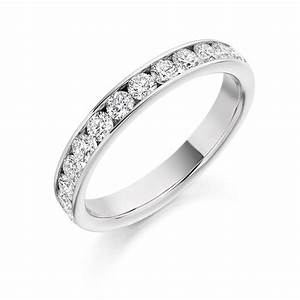 platinum 075ct round brilliant cut diamonds channel set With diamond cut round vintage wedding engagement rings