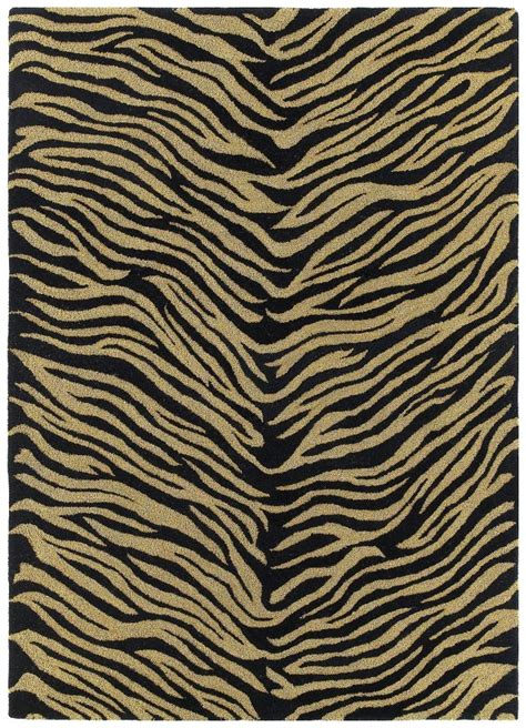 Animal Print Kaleen Rugs Khazana Grey Wool12965