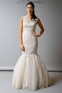 illusion neckline trumpet wedding dress sang maestro With wedding dress necklines