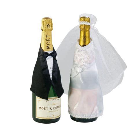 married flaschen deko hochzeit anzug und
