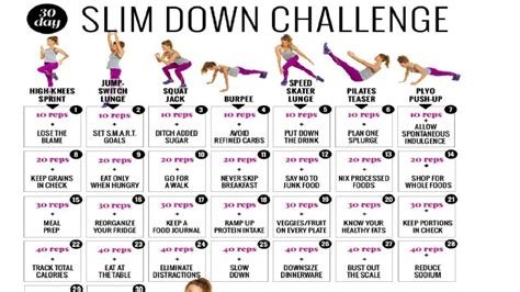 Lose Weight This Month With Our 30day Shape Slim Down