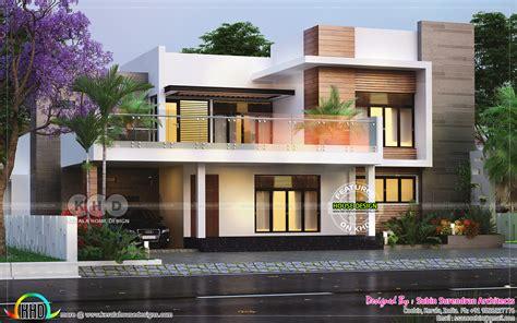 bedroom  square feet modern flat roof house kerala
