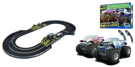 monster truck race track toy scalextric 1 32 scale monster truck mayhem race set
