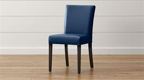lowe navy leather dining chair reviews crate  barrel