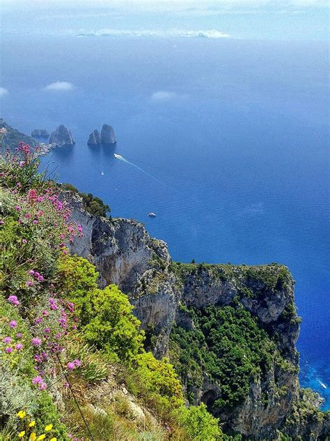 View From The Top Of Monte Solaro Capri Naples Campania