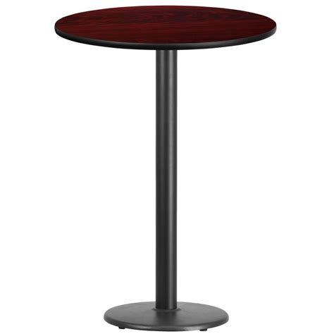 30 round counter height table 30 39 39 round mahogany laminate table top with 18 39 39 round bar