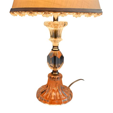 70% Off  Table Lamp With Clear Glass Base Decor